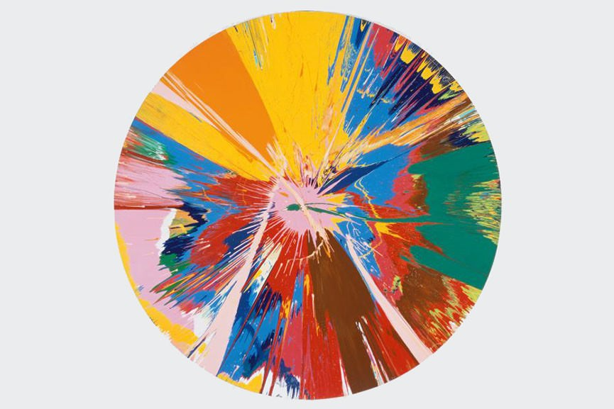Damien-Hirst-Beautiful-shattering-slashing-violent-pinky-hacking-sphincter-painting-1995-865x577